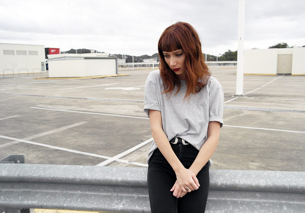 the mnml ethical clothing grey wanderer top
