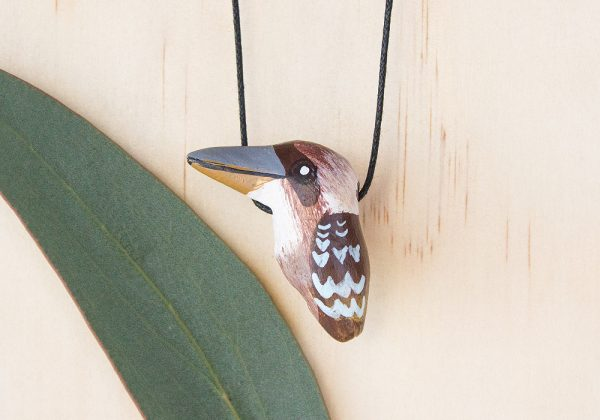Laughing Kookaburra Necklace, Songbird Collection, Ethically Made, Australian Birdlife