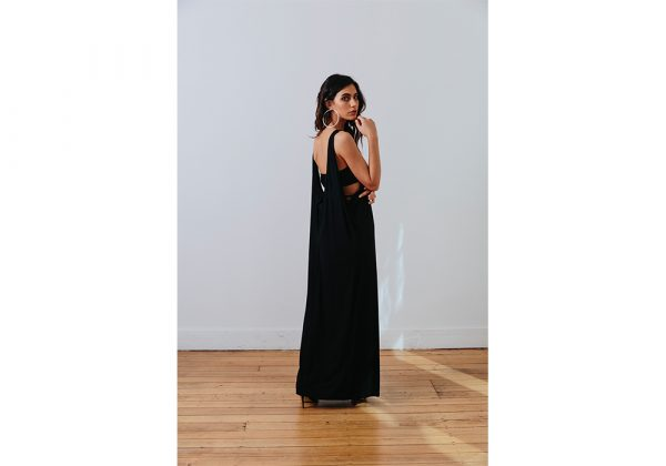 the mnml - ethical clothing - black decade dress