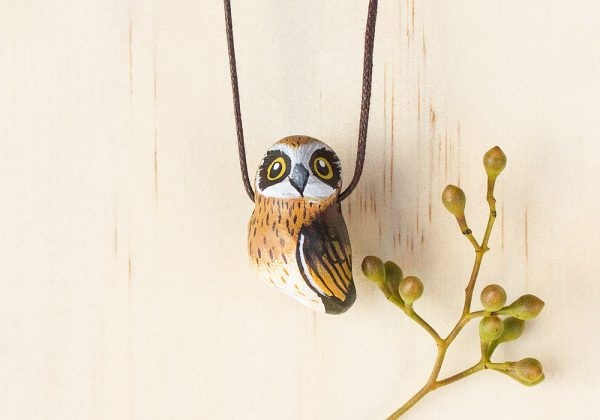 Songbird - Boobook Owl Necklace