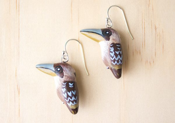 Laughing Kookaburra Earrings, Songbird Collection