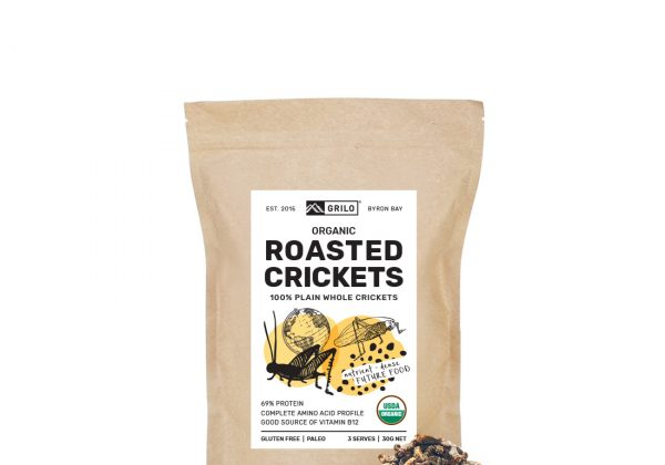 whole roasted crickets